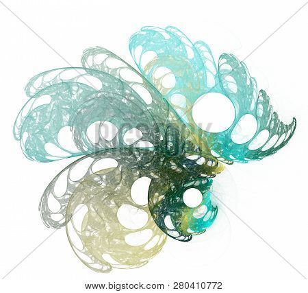 Abstract Fractal Color Texture. Digital Art. Abstract Form & Colors. Abstract Fractal Element For Yo