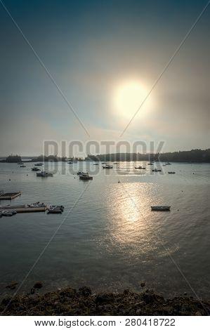 Sun Sets Over Seal Harbor - Mt Desert, Maine, Usa