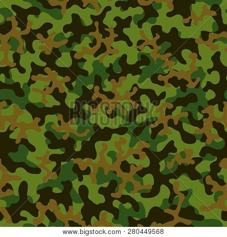 Seamless Camouflage Pattern. Abstract Exotic Trend Floral Military Background. Camouflage Seamless P
