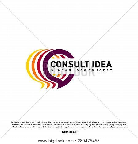 Modern Business Consulting Agency Logo Design Template. Elegant Simple Consult Logo Concept