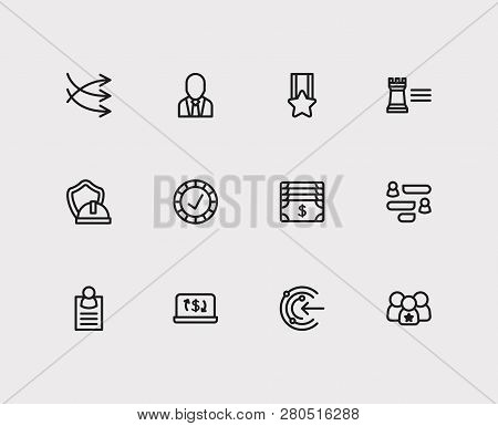 Business Icons Set. Business Marketing And Business Icons With Money, Ecommerce And Reliable Value.