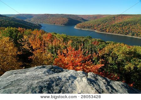 Allegheny National Forest overlook in fall