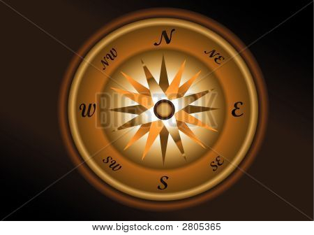 Antique Compass Illustration