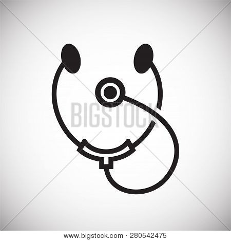 Stetoscope Icon On White Background For Graphic And Web Design, Modern Simple Vector Sign. Internet