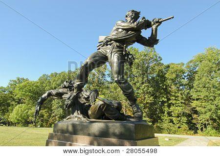 gettysburg civil war statue
