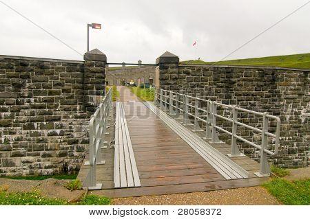 Fort Levis bridge and gate