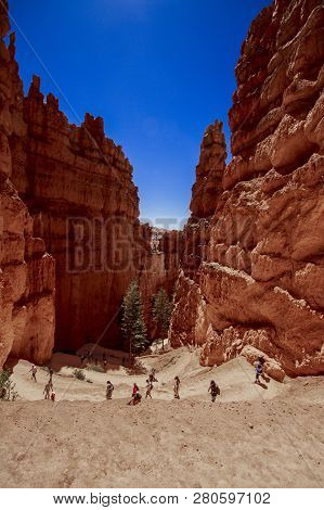 Hiking Down Into Bryce Canyon In Utah