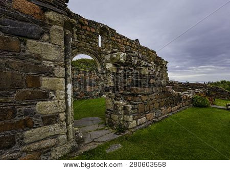 Exterior Detail Of The Nunnery On The Island Of Iona