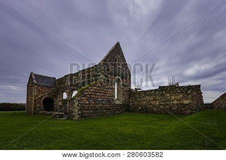 Ruins Of The Nunnery Under Restoration On Iona Island