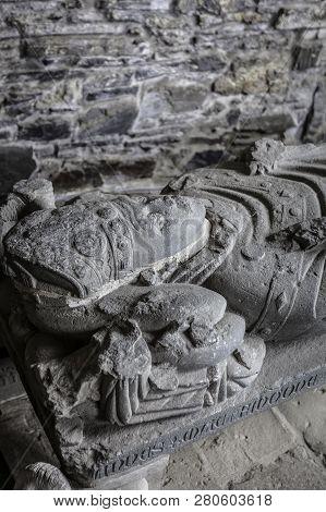 Effigy Of Abbot John Mackinnon In Iona Abbey