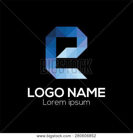 E Letter Logo Vector Template. Colorful Letter E Logo Vector Template