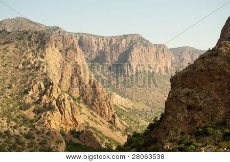 Chisos Mountain canyon cliffs