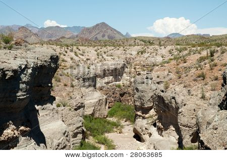 Tuff Canyon and Chisos Mountains