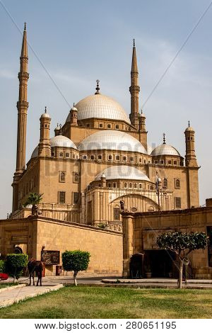 The Great Muhammad Ali Alabaster Mosque Citadel Of Cairo, Egypt