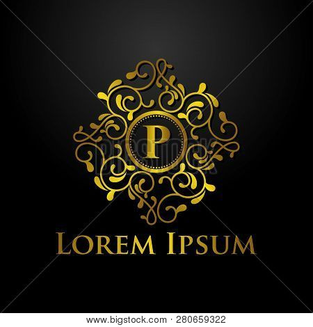 Luxury Logo, Letter P Logo, Classic And Elegant Logo Designs For Industry And Business, Interior Log