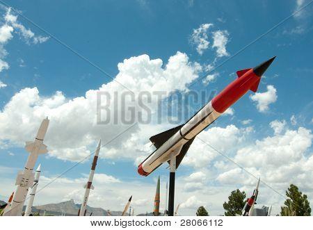 Anzeigen von weißen Sandstrand Rakete Bereich Museum im freien Missle und Rakete