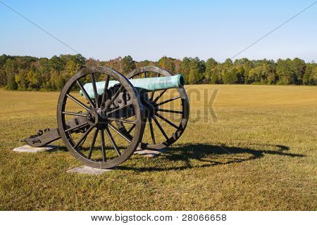 historic battlefield cannon poster