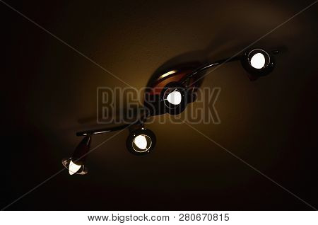 Ceiling Light With Led Bulb, South Bohemia, Czech Republic