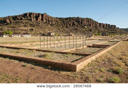 ruins of a building at Fort Davis National Historic Site poster