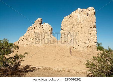 Casa Grande Ruins National Monument adobe wall ruins