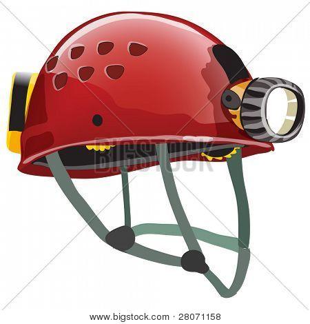 sport icons, speleologist helmet poster