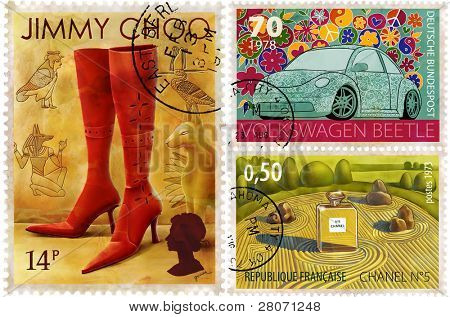 postage-stamp design