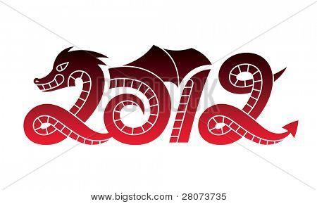New Year 2012 dragon