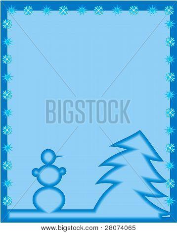 Christmas fon card in a blue tone