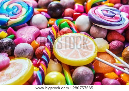 Candy, Gum, Candy, Marmalade And Other Sweets. Sweet
