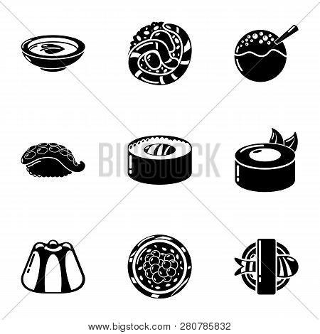 Whitefish Icons Set. Simple Set Of 9 Whitefish Icons For Web Isolated On White Background