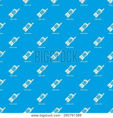 Portable Radio Pattern Seamless Blue Repeat For Any Use