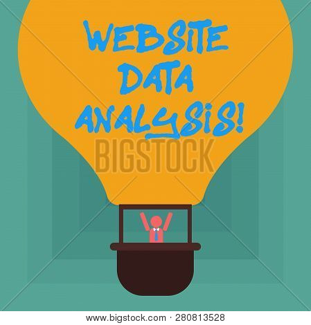 Conceptual Hand Writing Showing Website Data Analysis. Business Photo Showcasing Analysis And Report