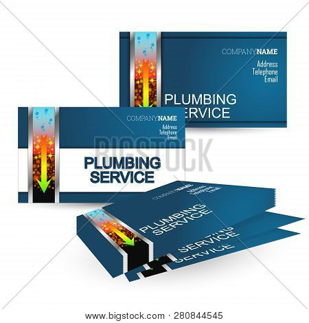 Business Card Plumbing Repair And Cleaning Of Water Pipes