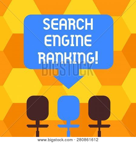 Handwriting Text Writing Search Engine Ranking. Concept Meaning Rank At Which Site Appears In The Se