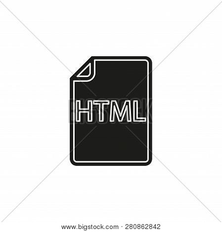 Download Html Document Icon - Vector File Format Symbol. Flat Pictogram - Simple Icon