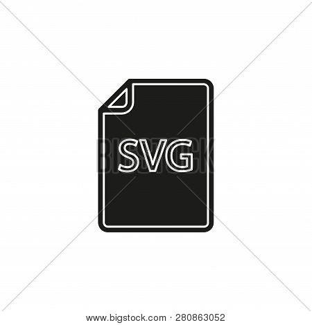 Download Svg Document Icon - Vector File Format Symbol. Flat Pictogram - Simple Icon