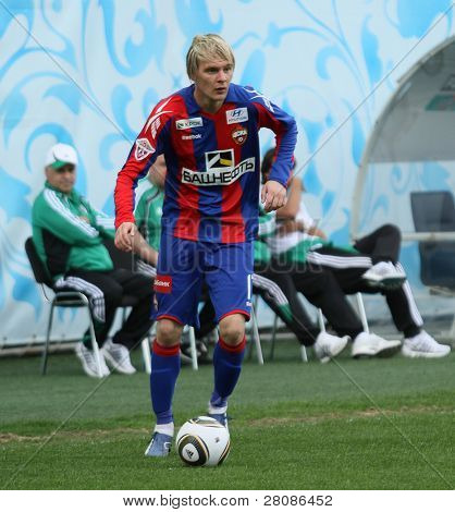 MOSCOW - MAY 10: CSKA's Milos Krasic in action during their team's Russian football championship game CSKA (Moscow) vs. Terek (Grozny) - (4:1), May 10, 2010 in Moscow, Russia.