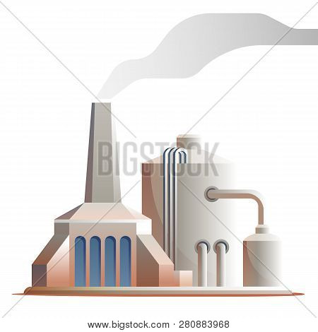 Vector Technical Structure Life Support For Colony. Illustration Structure Technical Supply Energy C