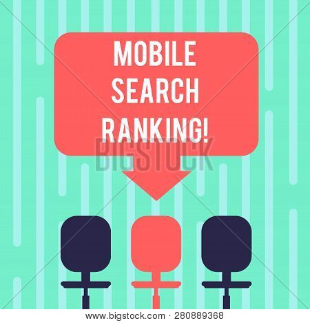 Word Writing Text Mobile Search Ranking. Business Concept For Website Or Page Is Ranked Within Searc