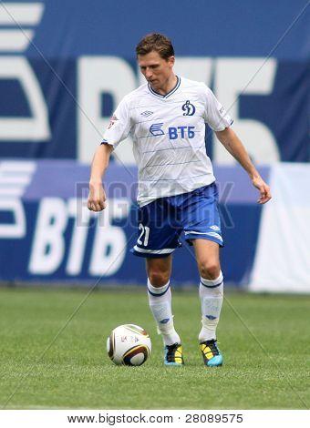 MOSCOW - JULY 3: Dinamo's midfielder Igor Semshov in the VTB Lev Yashin Cup: FC Dynamo Moscow vs. FC Dynamo Kyiv (2:0), July 3, 2010 in Moscow, Russia.
