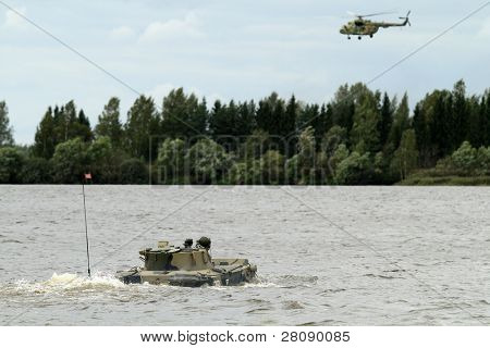 KOSTROMA REGION - AUGUST 26: Self-propelled anti-tank gun