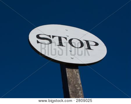 Old Time Railroad Stop Sign