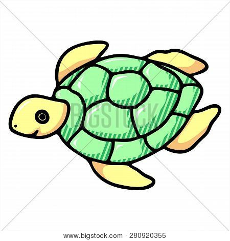 Cute Cartoon Turtle Vector Photo Free Trial Bigstock