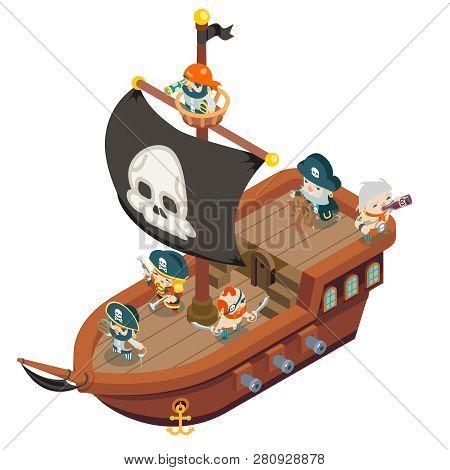 Pirate Ship Crew Buccaneer Filibuster Corsair Sea Dog Sailors Captain Fantasy Rpg Treasure Game Isom