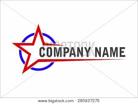 Star Logo. Positive Star Running. Rise Fall Stars.star Vector Color Logo, Star Icon Color, The Astro
