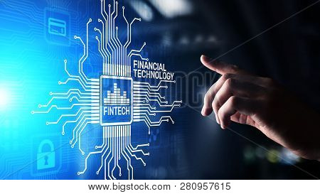 Fintech Financial Technology Cryptocurrency Investment And Digital Money. Business Concept On Virtua