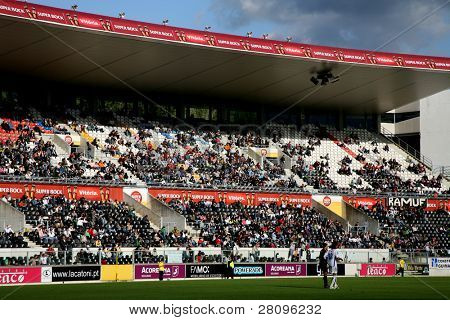 People on the stadium during a portuguese league game