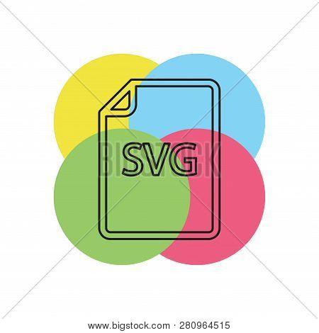 Download Svg Document Icon - Vector File Format Symbol. Thin Line Pictogram - Outline Stroke