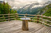sundial compass nature background balcony in Triglav National Park - Slovenia . poster