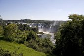 Iguazu Falls as seen from Brasil looking toward Argentina poster